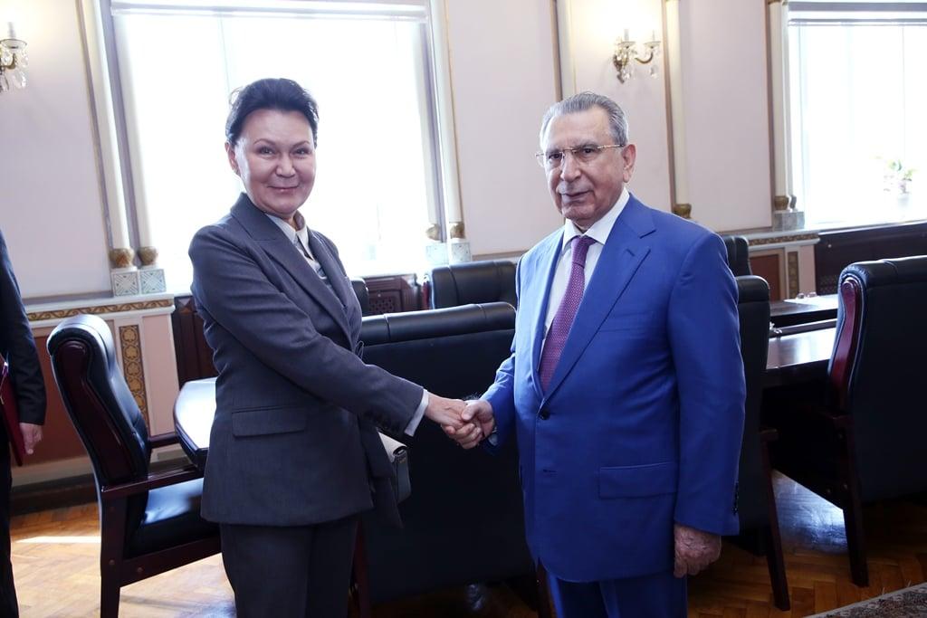AMEA-nın prezidenti, akademik Ramiz Mehdiyev Rusiya Elmlər Akademiyasının vitse-prezidenti ilə görüşüb