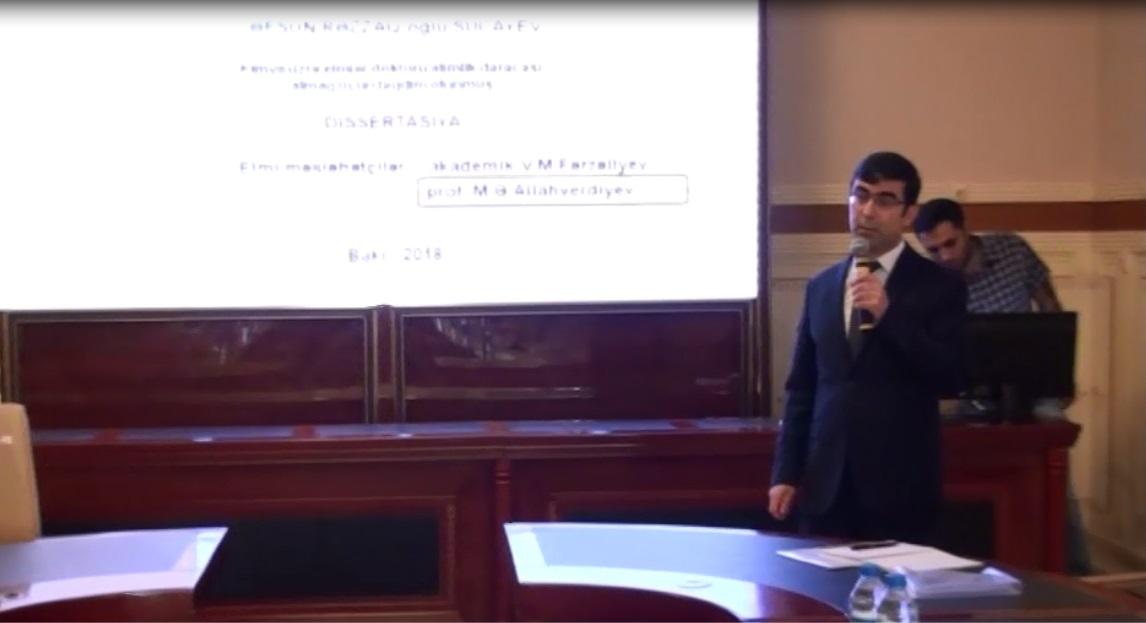 Kimya elmi sahəsində perspektivli gənc alimin doktorluq dissertasiyasının müdafiəsi keçirilib