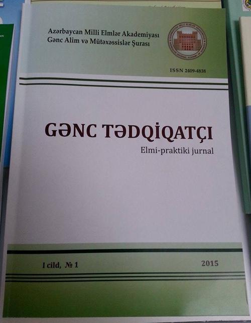 """""""Gənc tədqiqatçı"""" jurnalının növbəti nömrəsi üçün məqalə qəbulu elan edildi"""