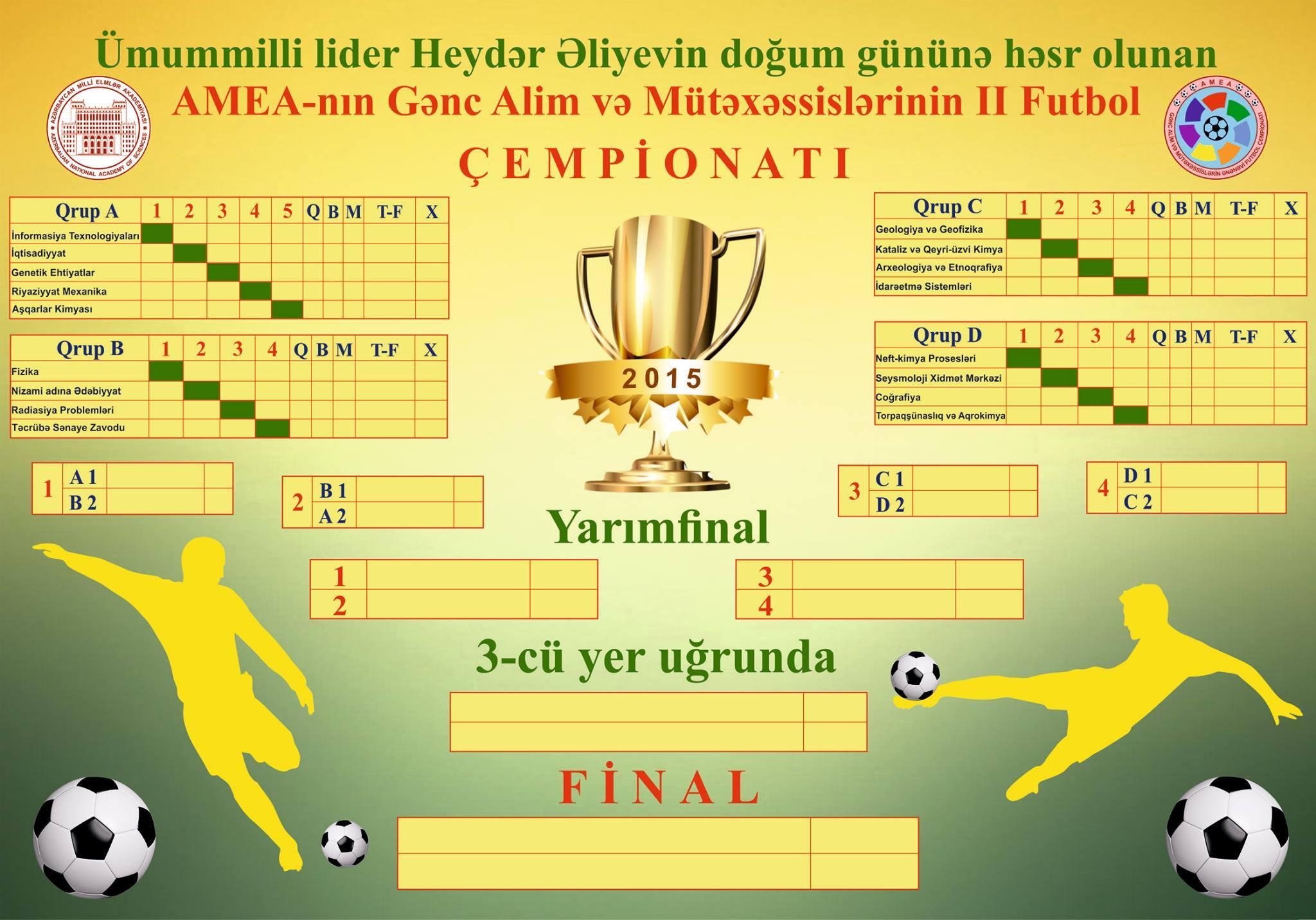 Gənc Alim və Mütəxəssislər Şurası növbəti futbol çempionatının püşkatma mərasimin keçirdi