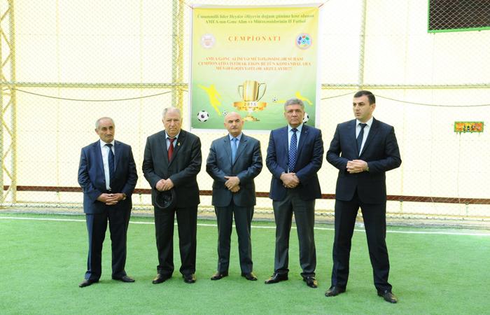 AMEA Gənc Alim və Mütəxəssilərinin II Futbol Çempionatının qrup oyunlarına start verildi