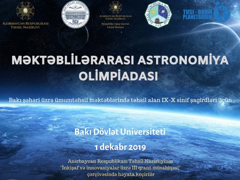 """""""Məktəblilərarası Astronomiya Olimpiadası"""" keçiriləcək"""