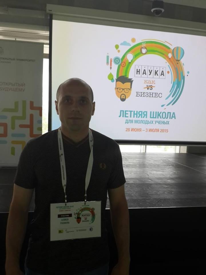 İqtisadçı gənc alim Moskvada keçirilən gənclər üçün innovasiya konfransında iştirak edib