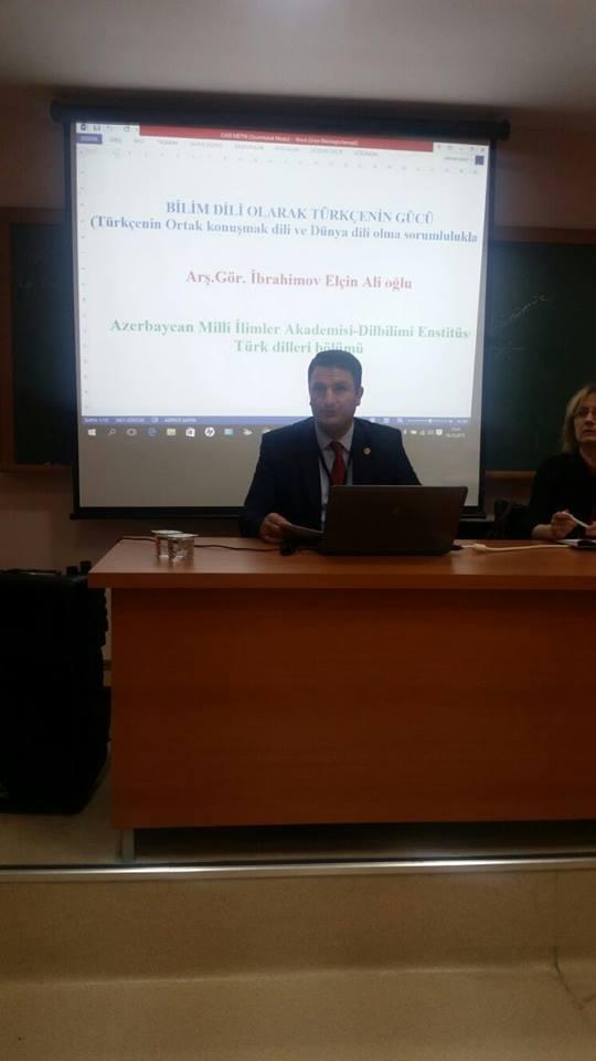 Dilçilik İnstitutunun doktorantı Türkiyədə konfransda iştirak edib