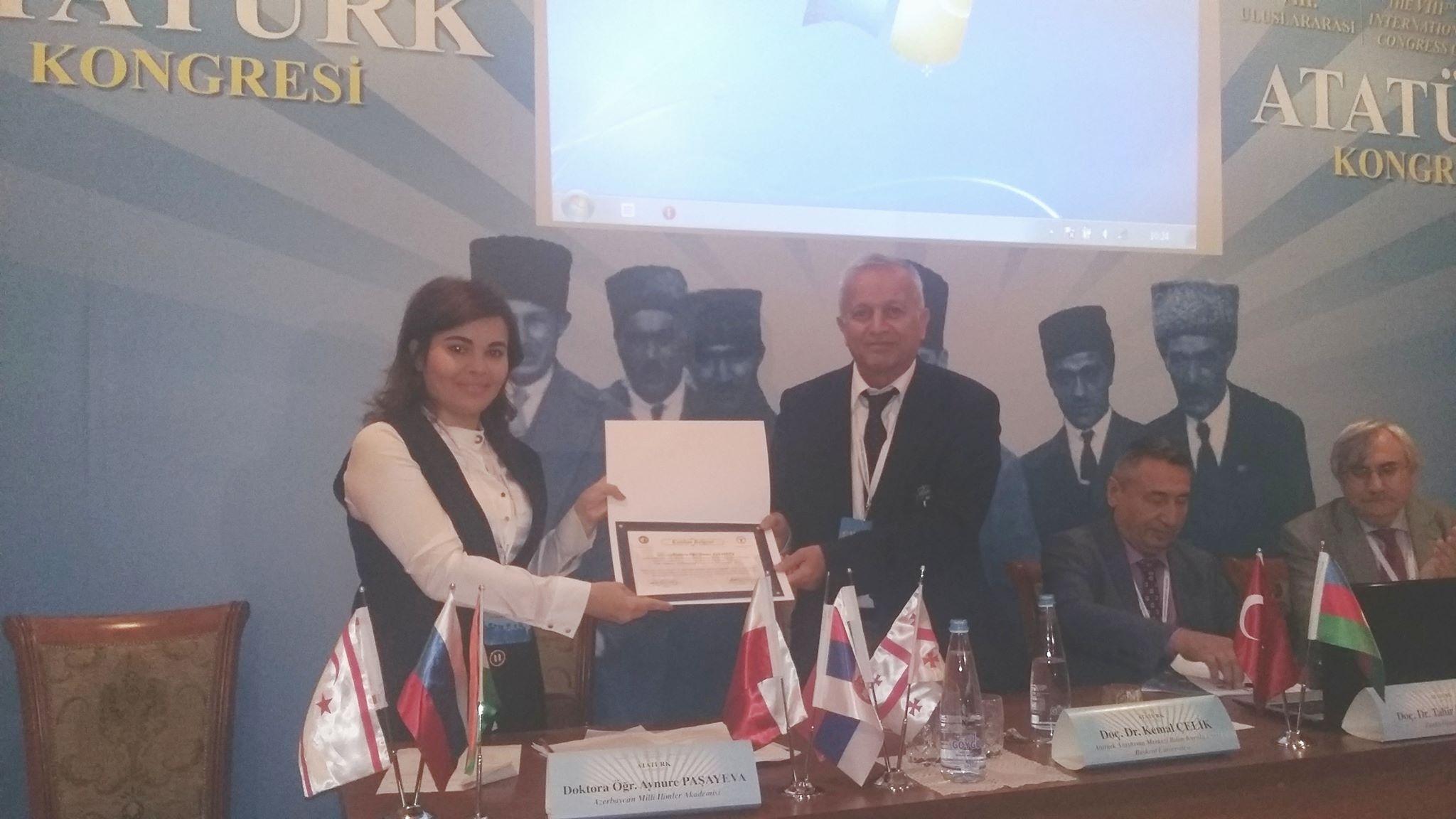 Nizami adına Ədəbiyyat İnstitutunun doktorantı VIII Beynəlxalq Atatürk konfransında iştirak edib