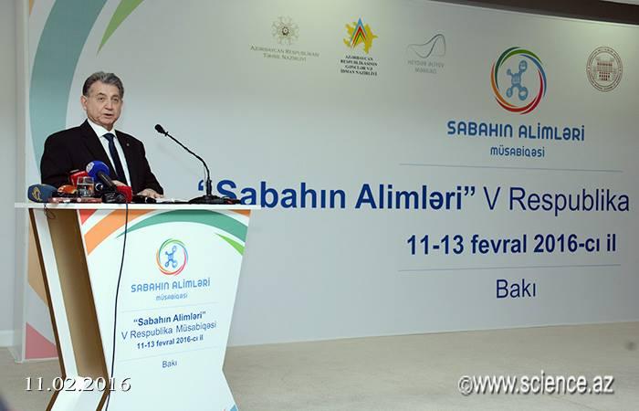"""AMEA-da """"Sabahın alimləri""""nin sərgisi və müsabiqənin açılışı olub"""