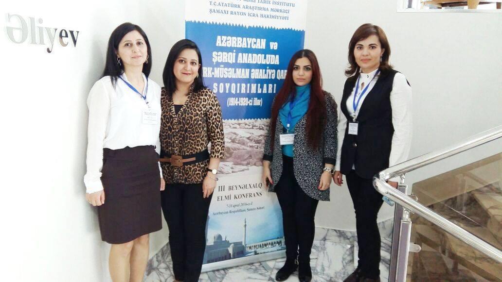 Gənc alimləri beynəlxalq konfransda iştirak ediblər