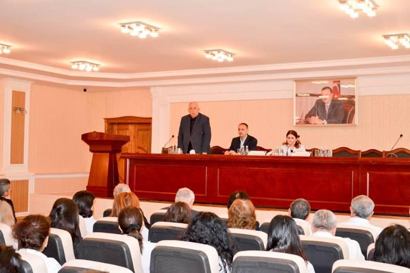 31 Mart - Azərbaycanlıların Soyqırımı Günü AMEA Gəncə Bölməsində də qeyd olunub