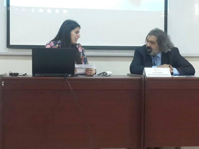 """Gənc alim """"Beynəlxalq Axıska Türkləri Simpoziumu""""nda məruzə edib"""