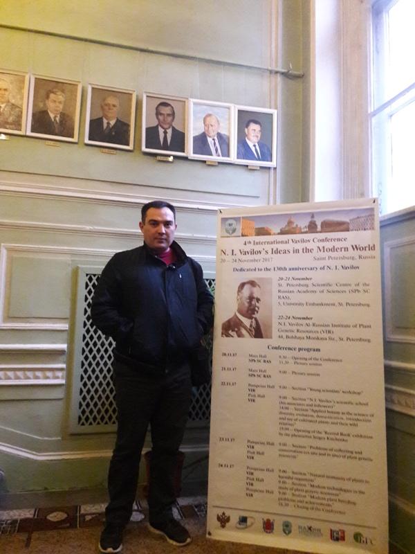 AMEA Genetik Ehtiyatlar İnstitutunun elmi işlər üzrə direktor müavini Rusiyanın Sank Peterburq şəhərində 5 günlük ezamiyyətdə olmuşdur