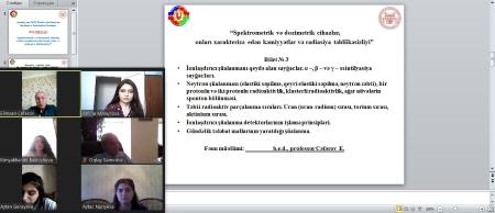 AMEA Radiasiya Problemləri İnstitutunda magistrantların yay imtahan sessiyası başlayıb