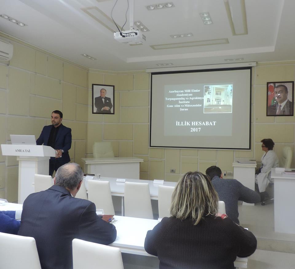 AMEA Torpaqşünaslıq və Aqrokimya İnstitutun Gənc Alim və Mütəxəssislər Şurası illik hesabatını təqdim edib
