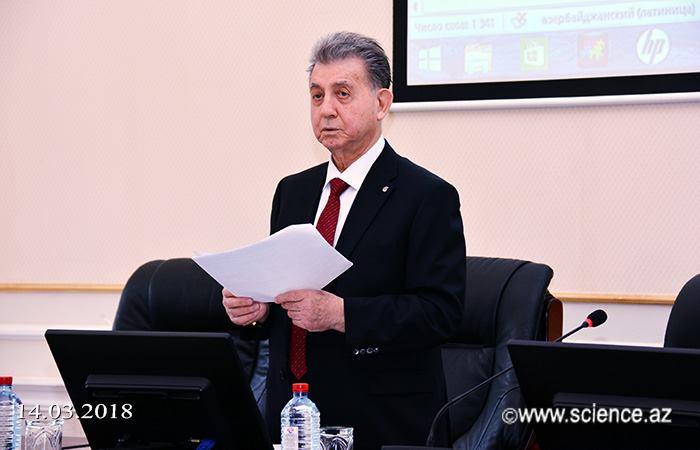"""Akif Əlizadə: """"Gənc alimlər prioritet elmi istiqamətlərdə tədqiqatlar aparmalıdır"""""""