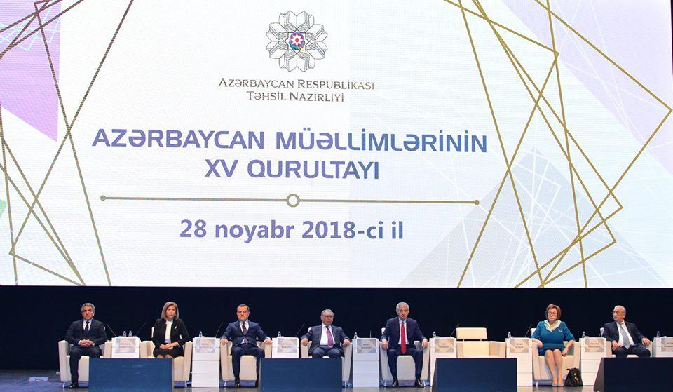 Azərbaycan müəllimlərinin XV qurultayı keçirilib