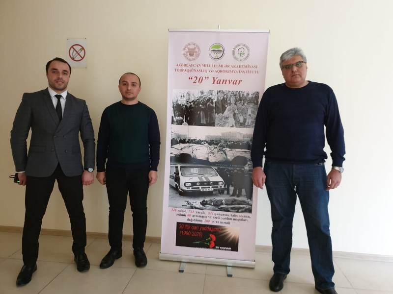 AMEA Torpaqşünaslıq və Aqrokimya İnstitutunda 20 Yanvar faciəsinin 30-cu ildönümünə həsr olunan tədbir keçirilib