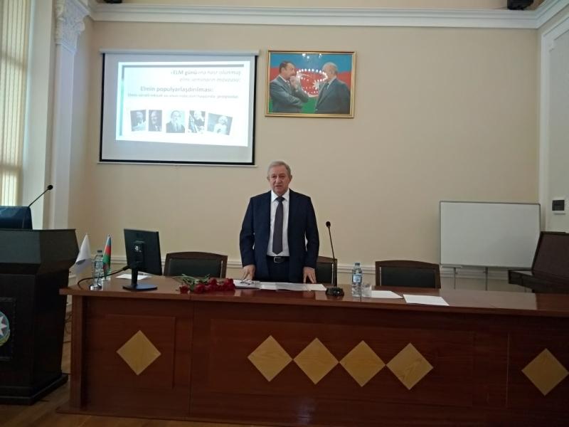"""AMEA Kataliz və Qeyri-üzvi Kimya İnstitutunda """"Elm Günü""""nə həsr olunmuş elmi seminar keçirilib"""