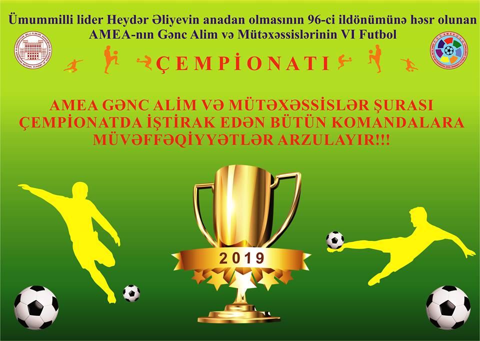 """AMEA Gənc Alim və Mütəxəssislərin VI İnstitutlararası futbol çempionatı""""nda 1/4 final oyunları keçirilib"""
