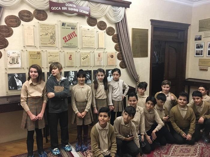 AMEA Hüseyn Cavidin Ev Muzeyində məktəblilər üçün açıq dərs təşkil olunub