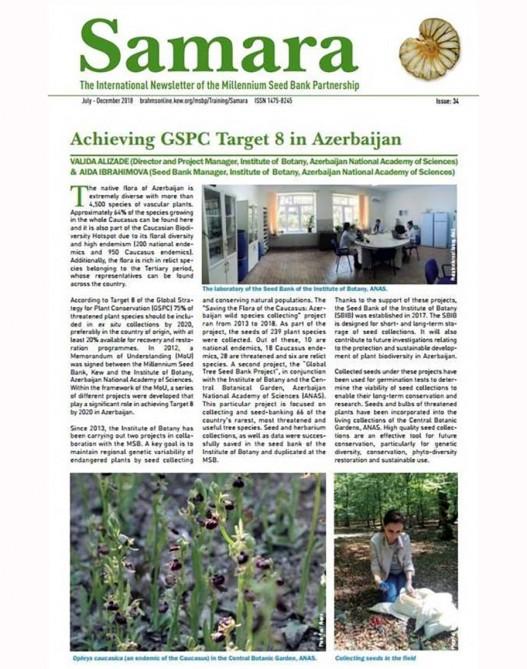 AMEA Botanika İnstitutunun alimlərinin məqaləsi beynəlxalq jurnalda dərc edilib