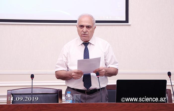 Akademik Akif Əlizadə yenidən Geologiya və Geofizika İnstitutunun direktoru seçilib