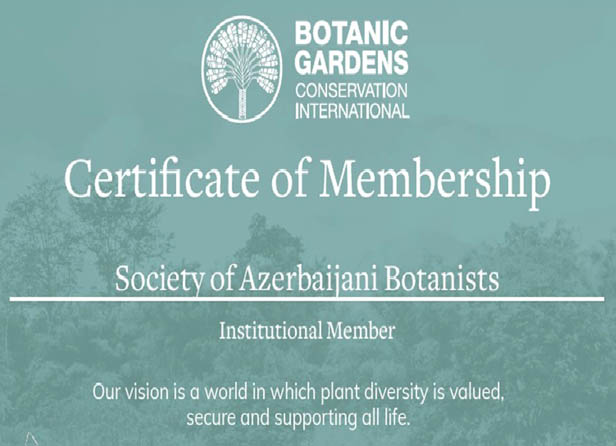 Azərbaycan Botaniklər Cəmiyyəti Botanika Bağlarının Beynəlxalq Mühafizəsi Təşkilatına üzv seçilib