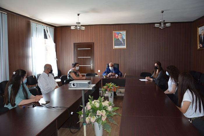 AMEA Radiasiya Problemləri İnstitutunda magistrantlarla görüş keçirilib
