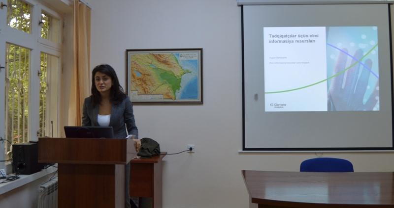 """AMEA Botanika İnstitutunda """"Web of Science"""" platformasından istifadə qaydalarına dair seminar keçirilib"""