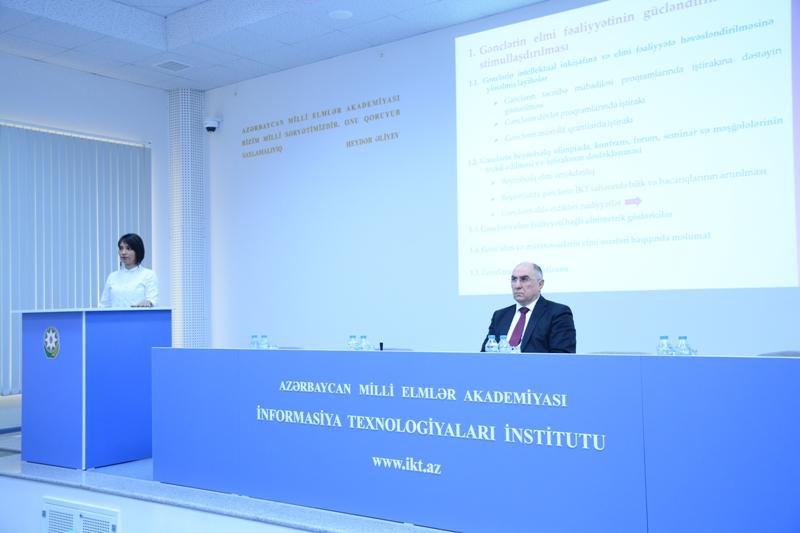 AMEA İnformasiya Texnologiyaları İnstitutu Gənc Alim və Mütəxəssislər Şurasının 2019-cu il üzrə fəaliyyət planı müzakirə olunub