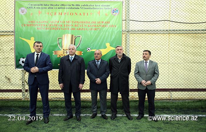 AMEA Gənc Alim və Mütəxəssislərin VI İnstitutlararası Futbol Çempionatına start verilib