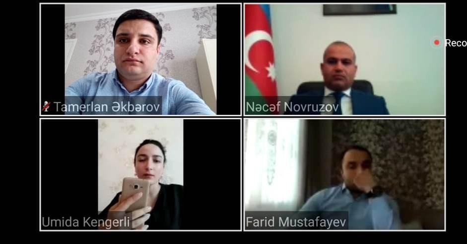 """Nərimanov rayonunda """"Gənclər və ünsiyyət"""" adlı ilk onlayn görüş keçirilib"""