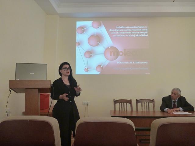 Aşqarlar Kimyası İnstitutunda gənc tədqiqatçıların kimyanın müasir və aktual problemlərinə həsr olunan təqdimatları olub