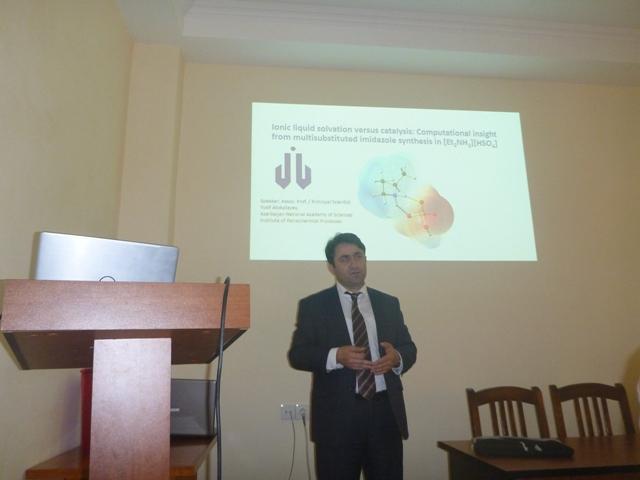 Aşqarlar Kimyası İnstitutunda Kompüter kimyası ilə bağlı maraqlı marifləndirmə seminar keçirilib