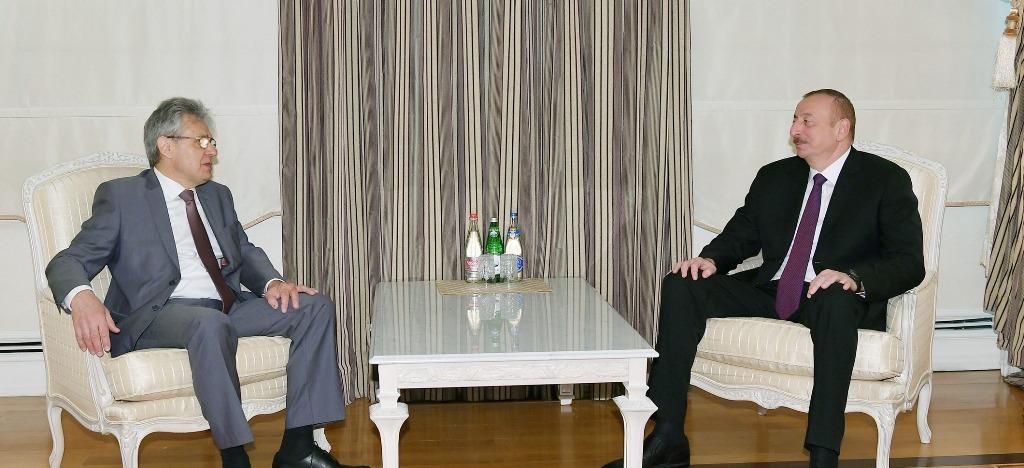 Prezident İlham Əliyev Rusiya Federasiyası Elmlər Akademiyasının prezidenti Aleksandr Sergeyevi qəbul edib