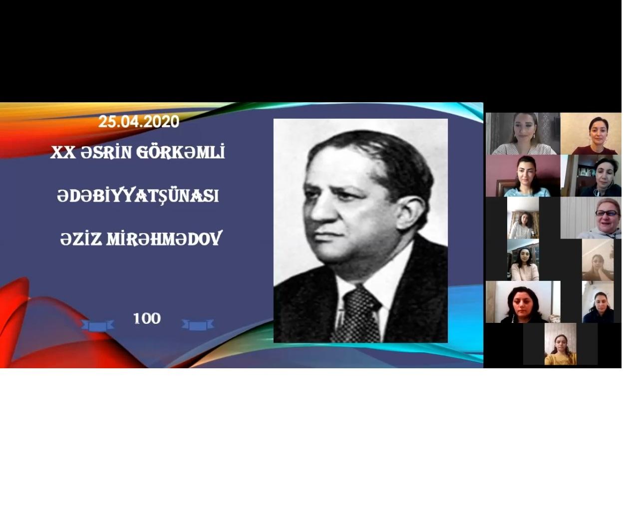 AMEA Nizami Gəncəvi adına Milli Azərbaycan Ədəbiyyatı Muzeyində videoseminar keçirilib