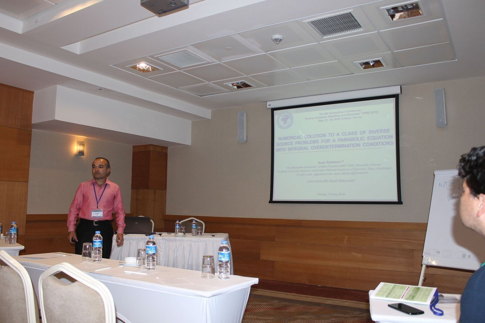 Researcher of ICS attended the International Conference on Inverse Problems in Turkey