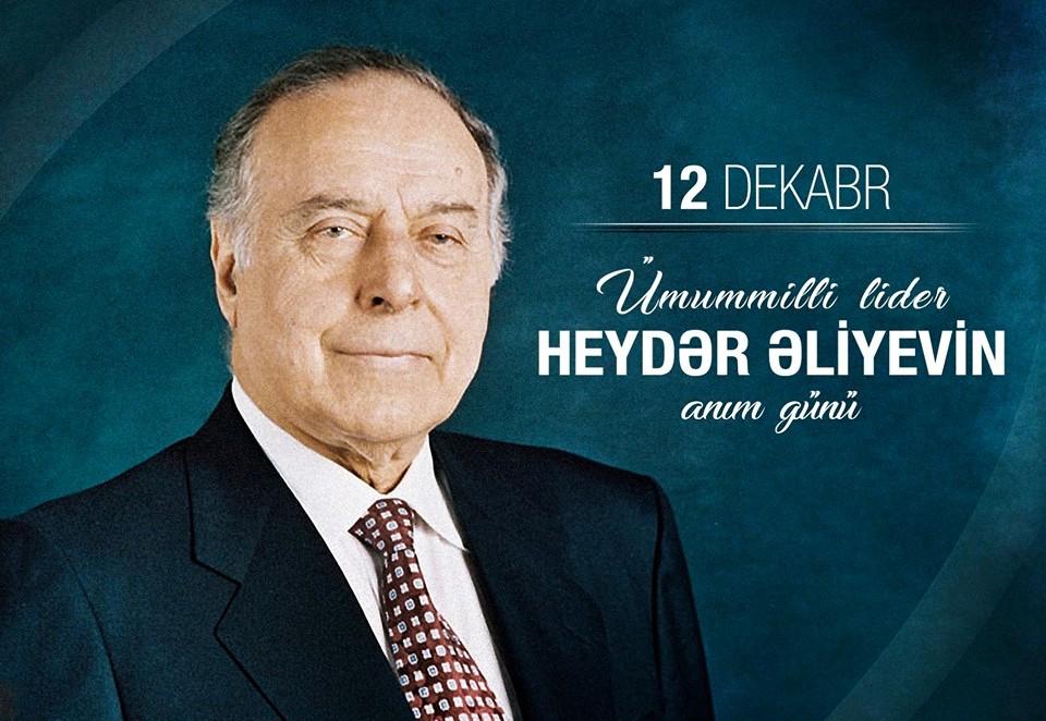 Bu gün ümummilli lider Heydər Əliyevin anım günüdür