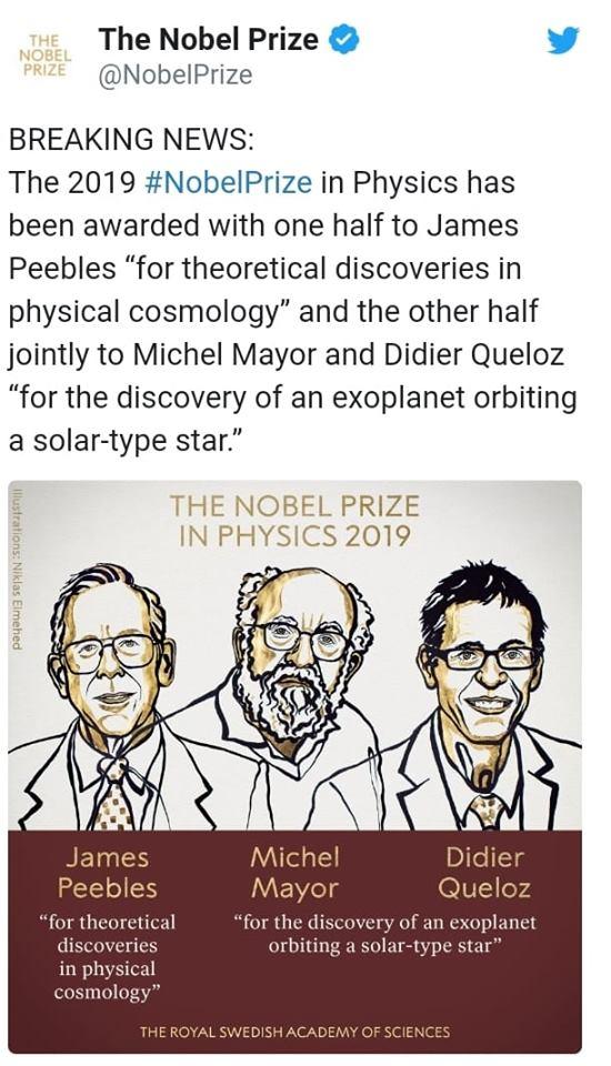 Fizika üzrə Nobel mükafatçıları məlum oldu