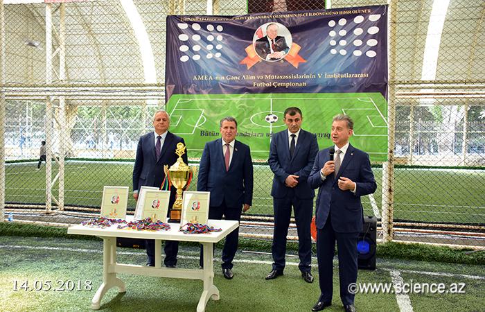 AMEA-nın Gənc Alim və Mütəxəssislərinin V İnstitutlararası Futbol Çempionatına yekun vurulub