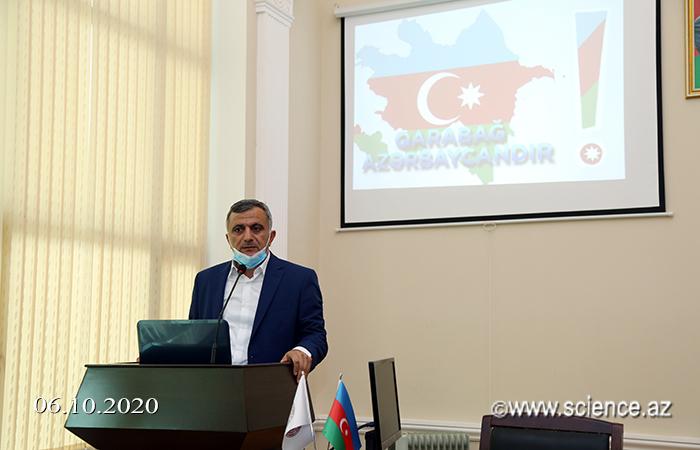 AMEA-nın Kataliz və Qeyri-üzvi Kimya İnstitutunun kollektivi Azərbaycan ordusu ilə həmrəylik nümayiş etdirirlər