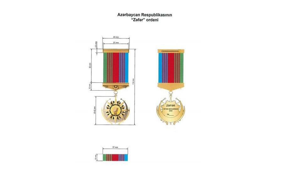 """Vətən Müharibəsində fərqlənən bir qrup hərbiçi """"Zəfər"""" və """"Qarabağ"""" medalları ilə təltif edilib"""